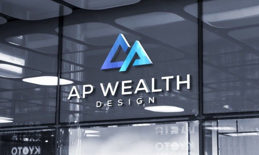 Logo, colors, shapes and font for AG Wealth
