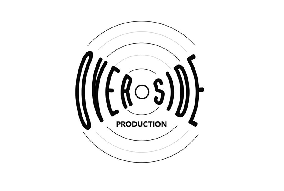 Round logo inspired by a vinyl record