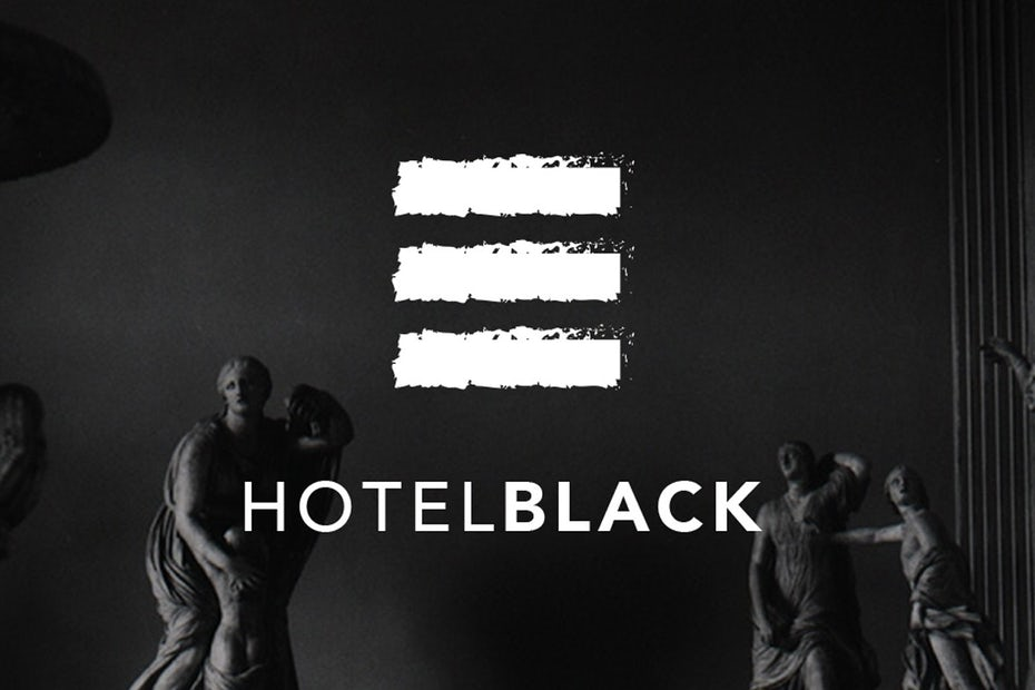 Collection of branding elements for Hotel Black