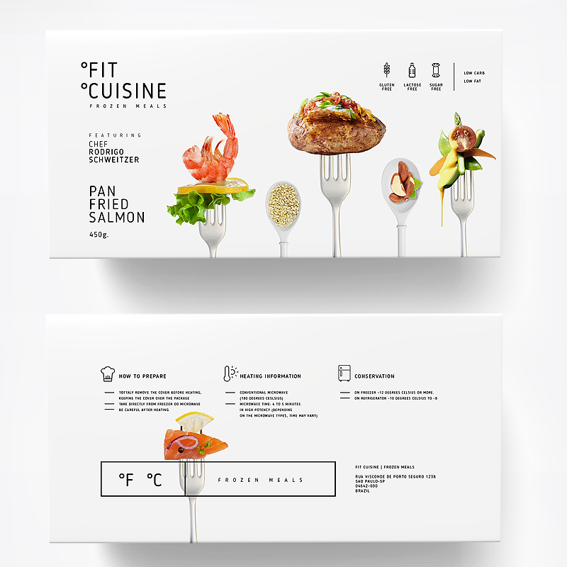 Packaging collection for Fit Cuisine