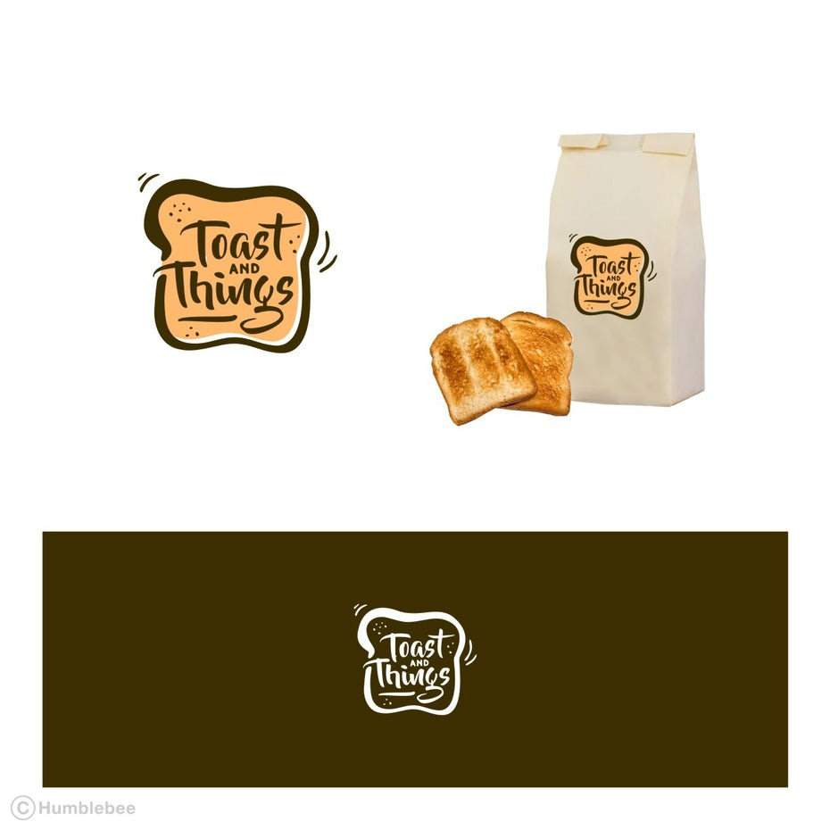 Logo, packaging mockup and color palette for Toast and Things
