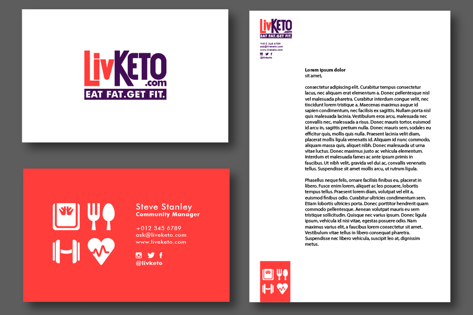 Branding elements for LivKeto