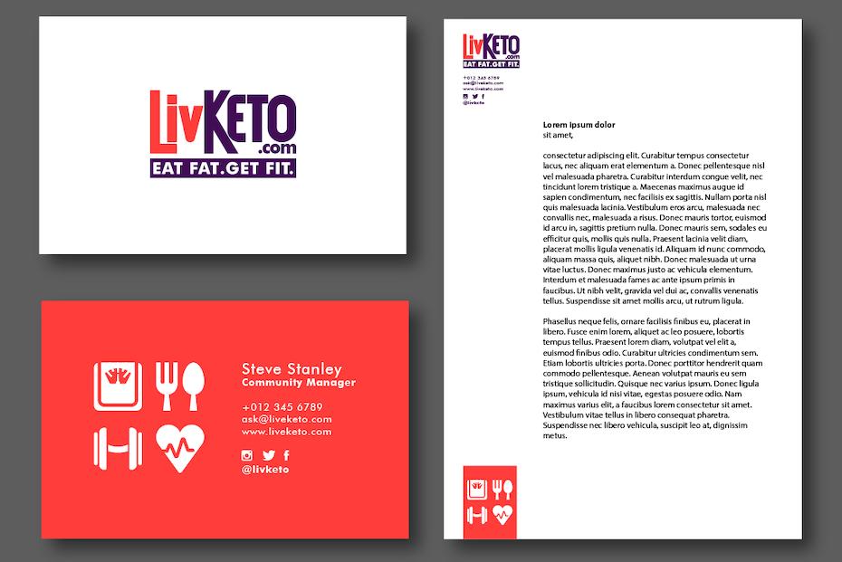 Elementos de marca para LivKeto