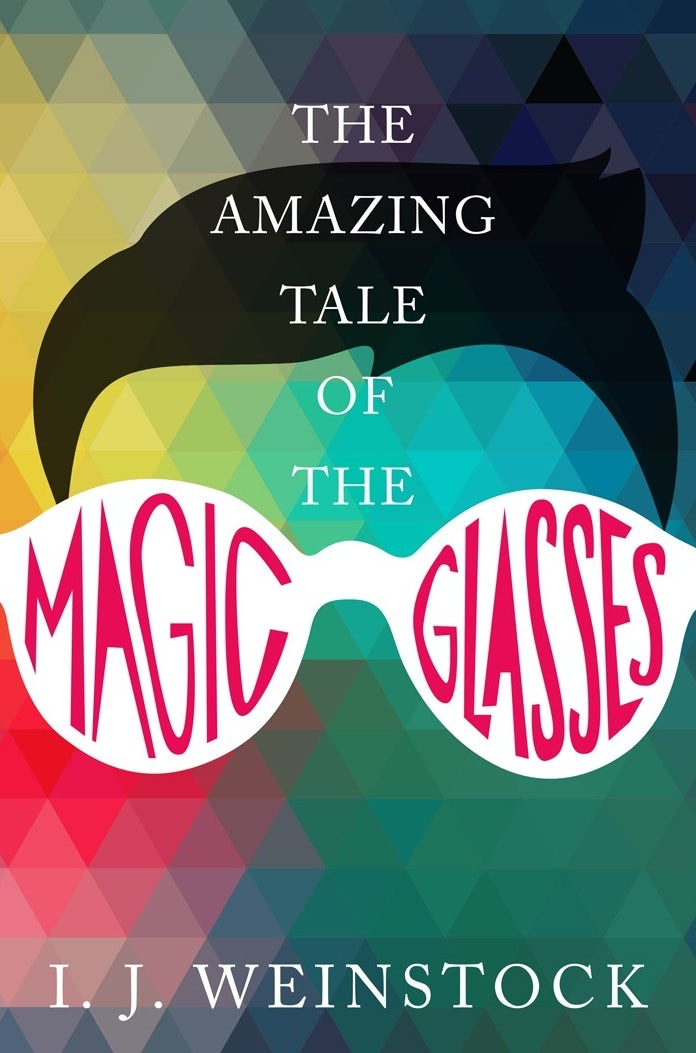 book cover trends 2020 example with colorful triangles and illustration of glasses