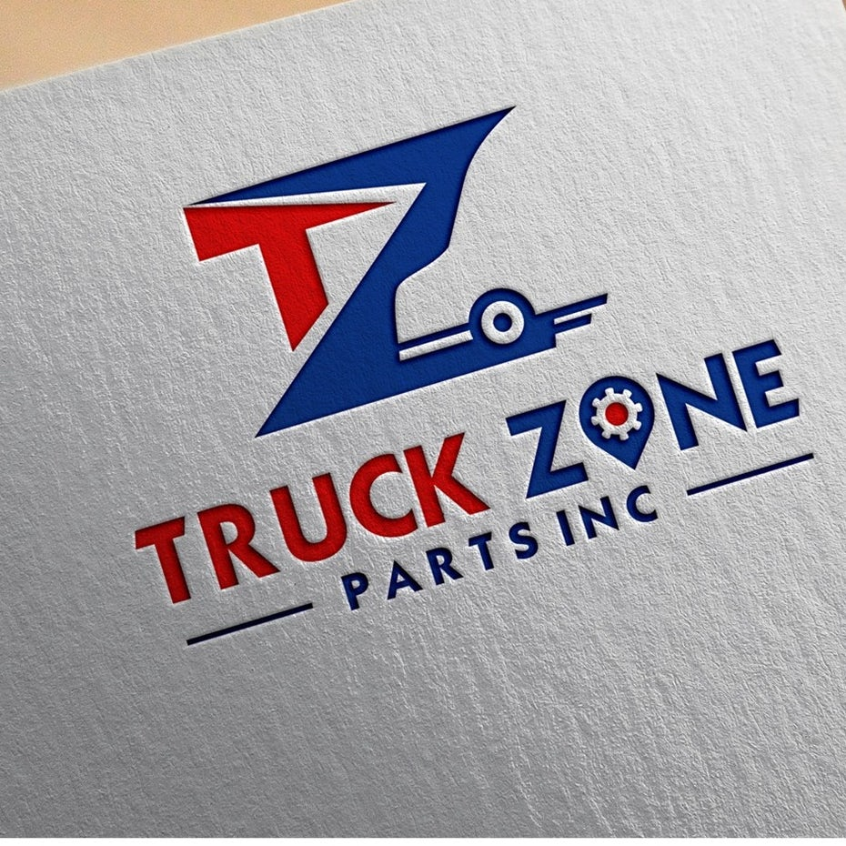 Logo and color scheme for TruckZone