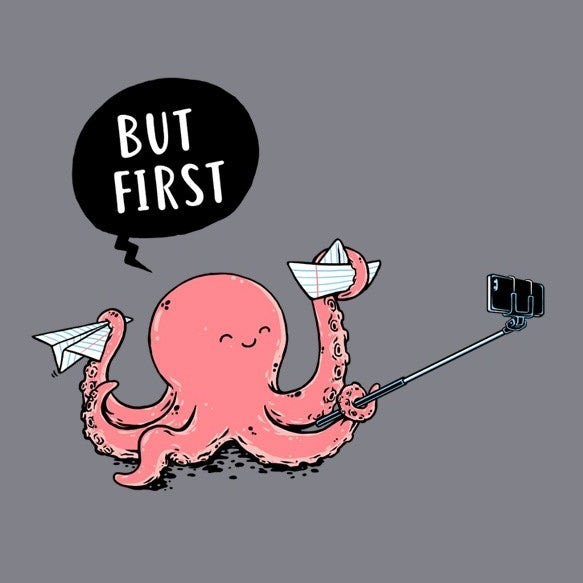 Octopus taking a selfie