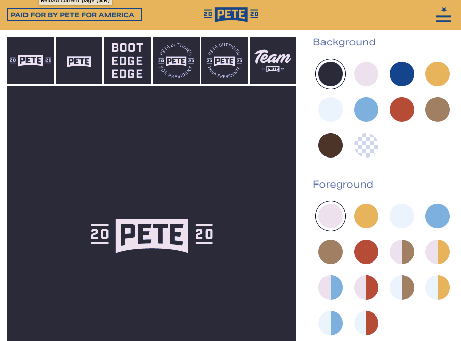 Pete Buttigieg's logo maker