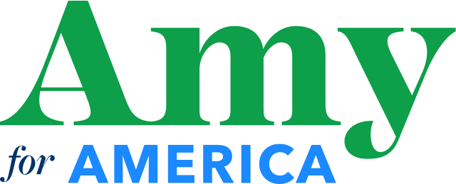 2020 presidential candidates logos: Amy Klobuchar.