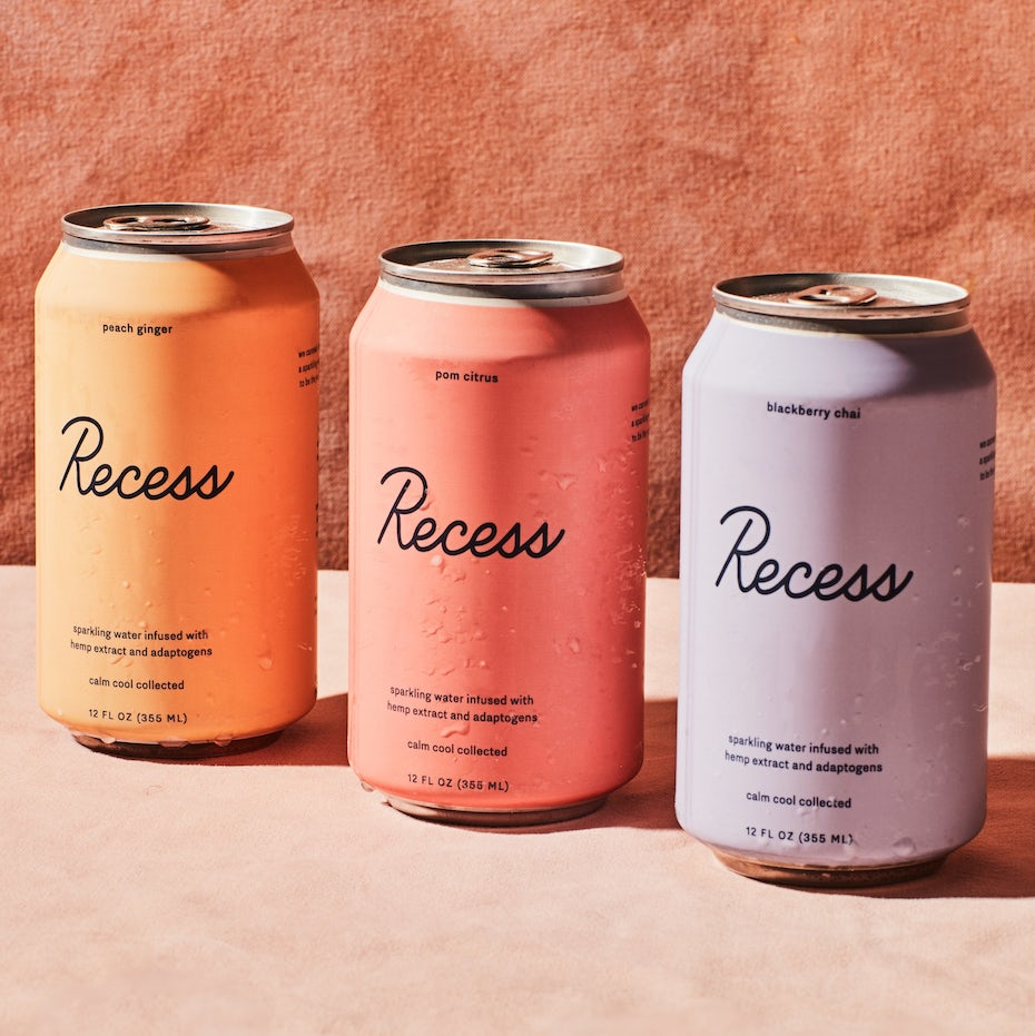 Pastel drink packaging