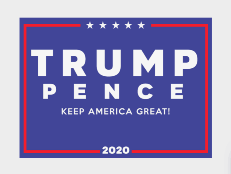 2020 presidential candidates logos: Donald Trump