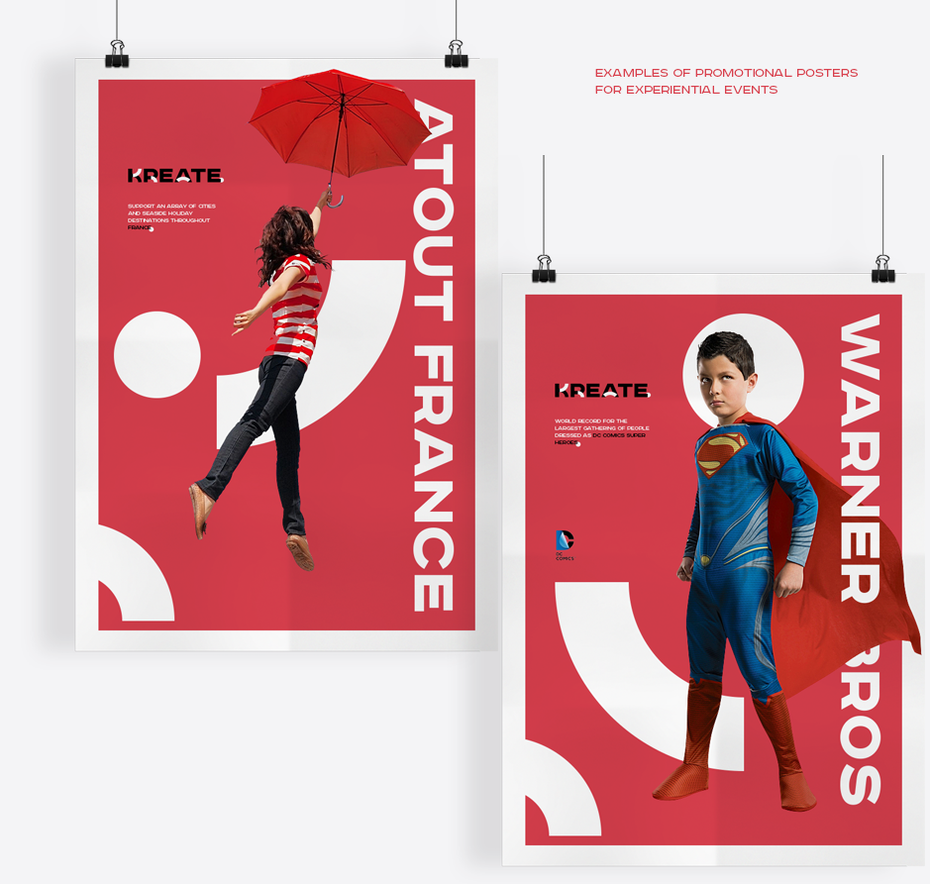 Red brand identity mockup poster design images