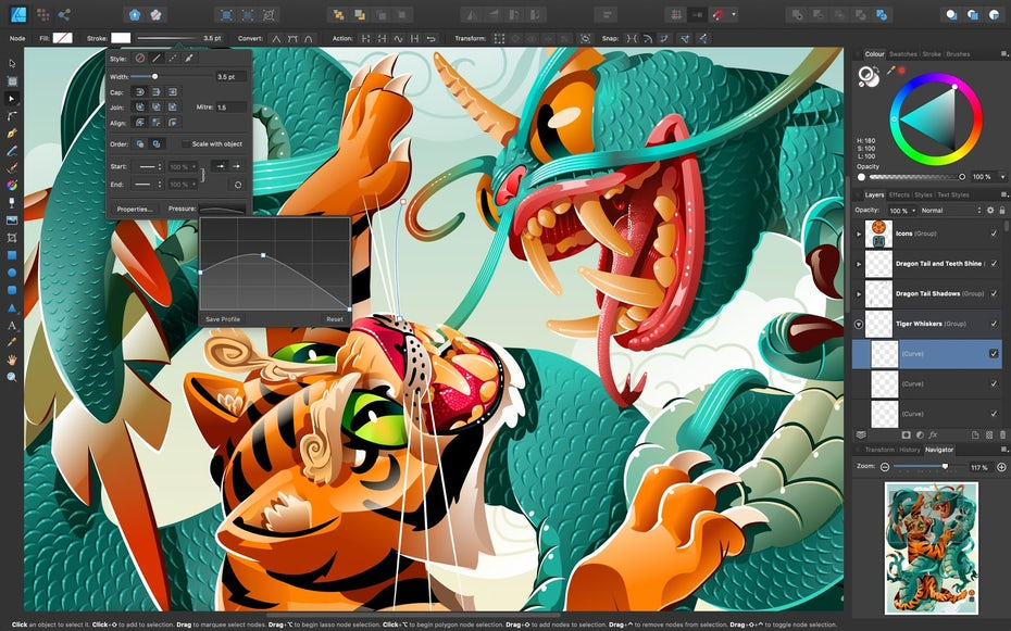 A screenshot of the Affinity Designer software interface