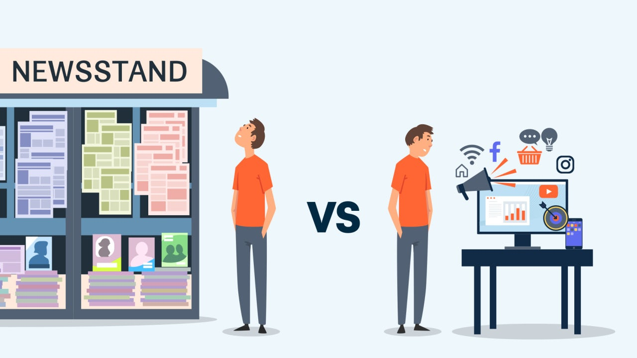 Digital marketing vs. traditional marketing: what's the difference? - 99designs