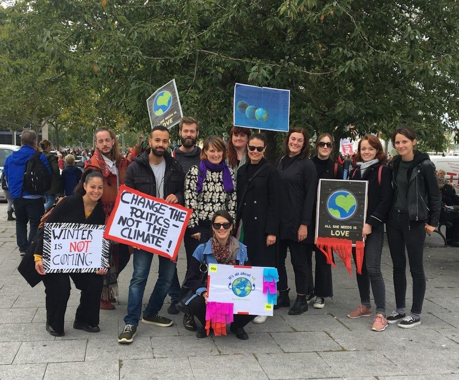 99designs team at global climate strike in Berlin