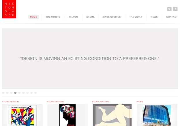 Milton Glaser graphic designer portfolio