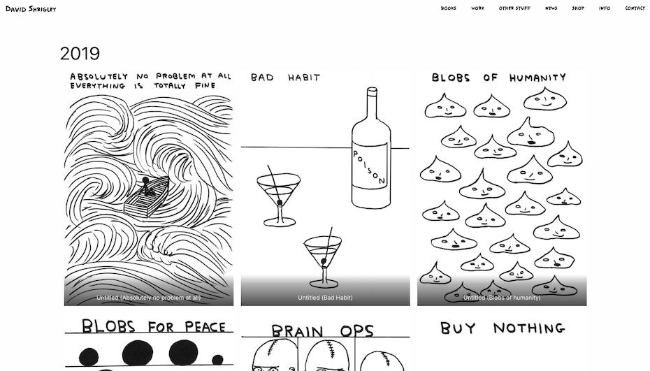 David Shrigley Grafikdesigner portfolio