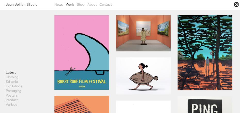 grafikdesigner webseite: Jean Jullien portfolio