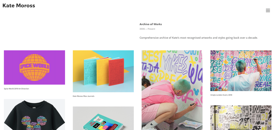 graphic designer websites: Kate Moross portfolio
