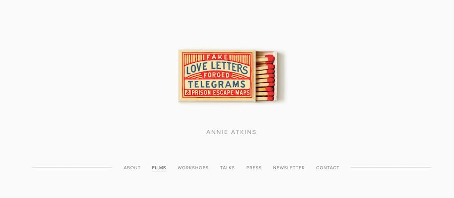 graphic designer portfolios: Annie Atkins portfolio website