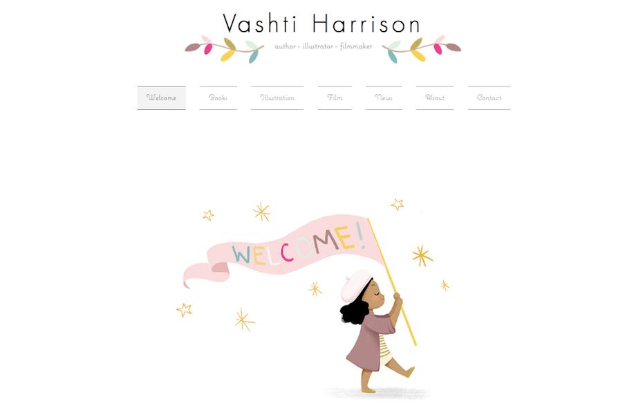 graphic designer portfolios: Vashti Harrison portfolio website