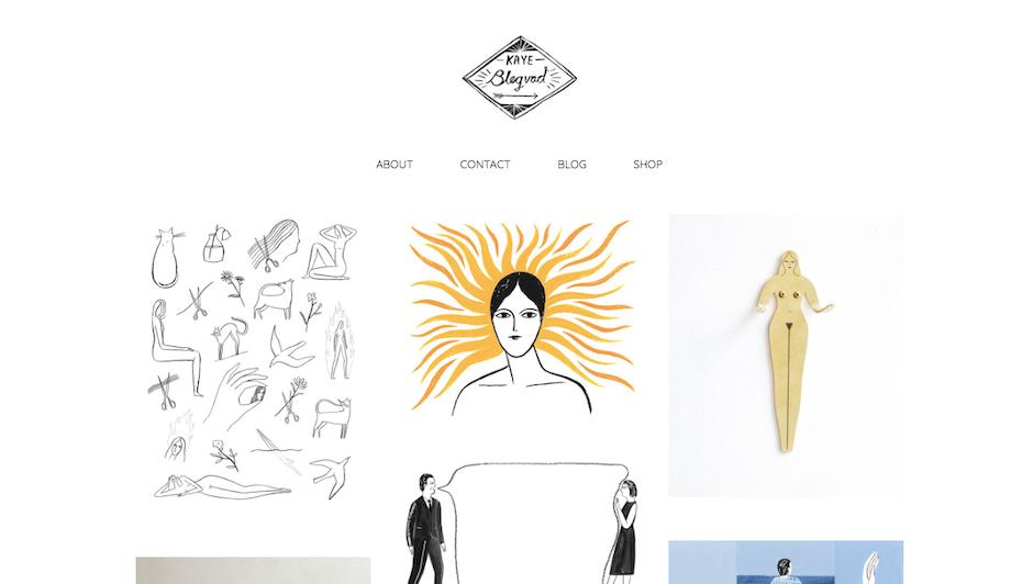 graphic designer portfolio example: Kaye Blegvad portfolio website