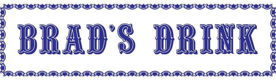 comienzo de la historia del logo de pepsi con el logo de Brad's Drink