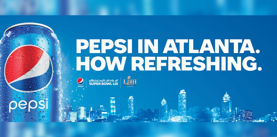 Pepsi billboard from Super Bowl LIII