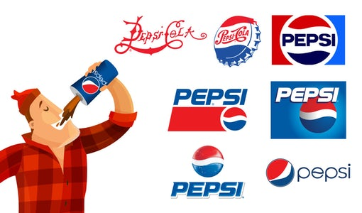 The history of the Pepsi logo