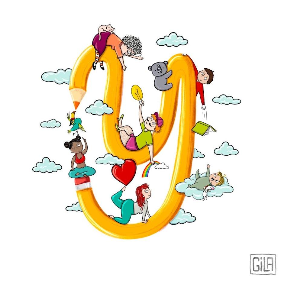 Illustration zu Zusammenarbeit und Teamwork