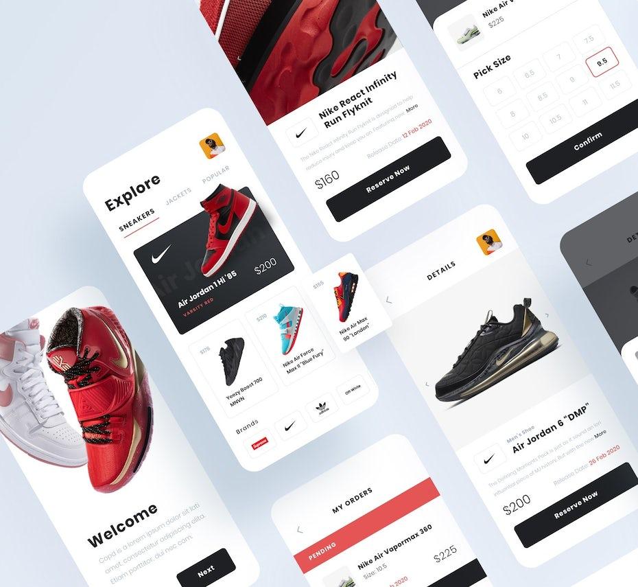 Example for digital marketing: modern app design