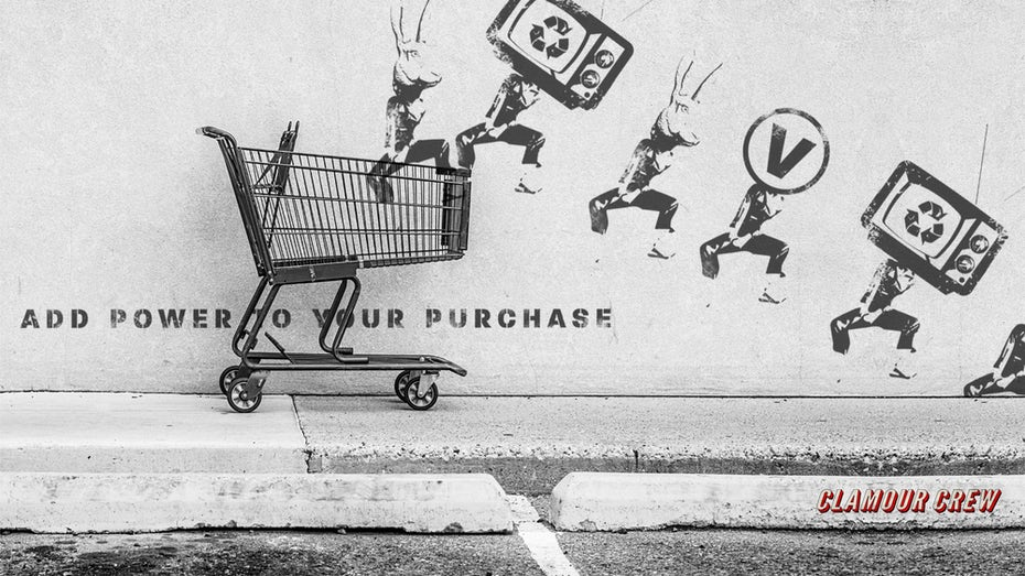 shopping cart power to your purchase illustration