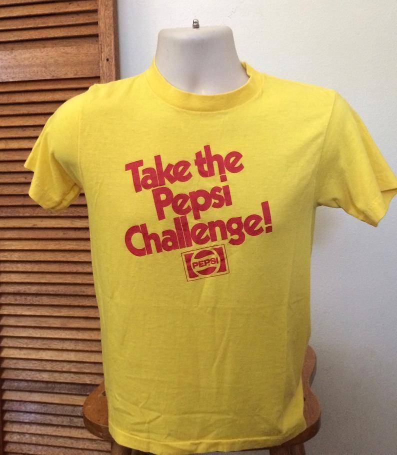 Vintage yellow Pepsi Challenge t-shirt