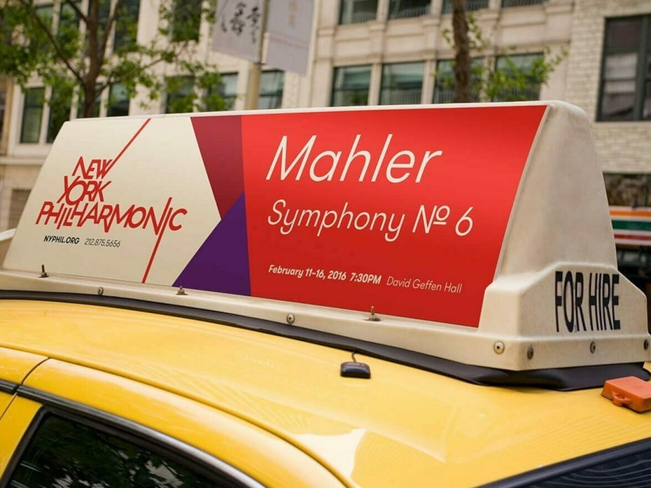 New York Philharmonic advertising