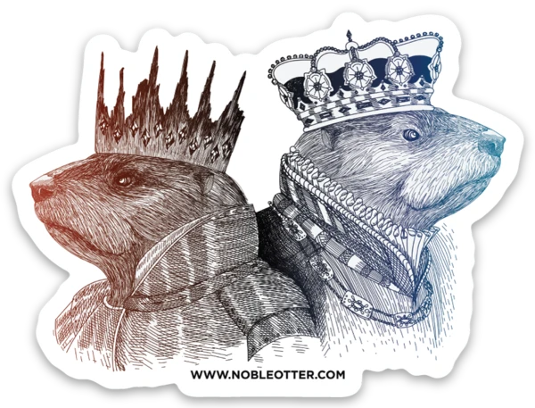 Noble Otter Two Kings stickers