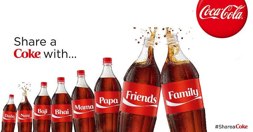 share a coke - coca cola ad campaign