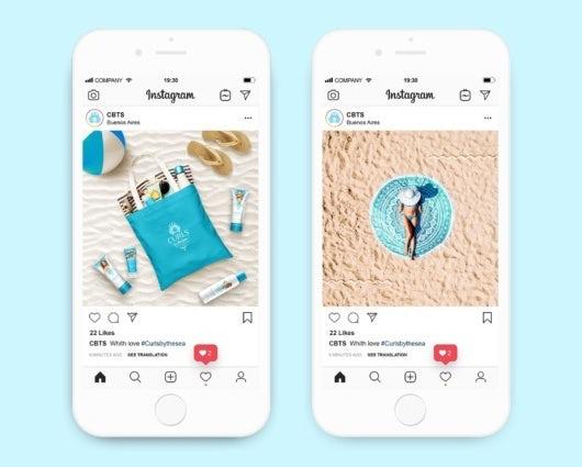 cosmetics branding for social media