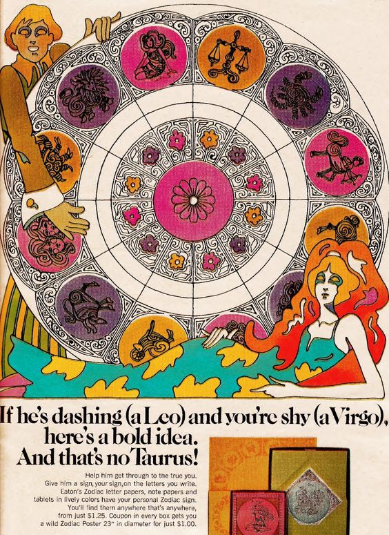 Tierkreiszeichen aus den 1970er Jahren