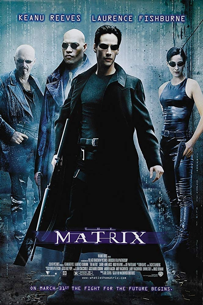 The Matrix poster in Cyberpunk-optik