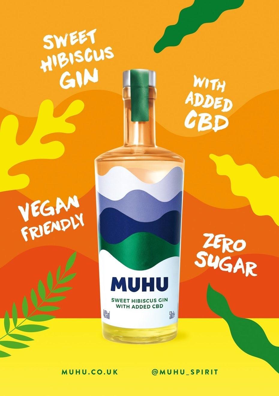 MUHU Flyer als teil des cbd-branding
