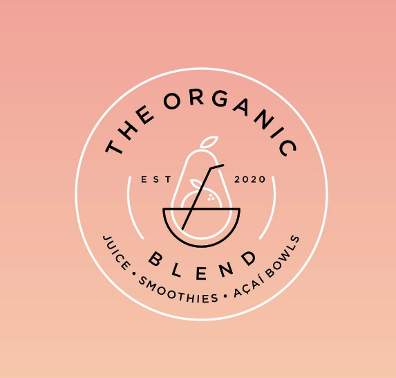 Food branding logo: The Organic Blend