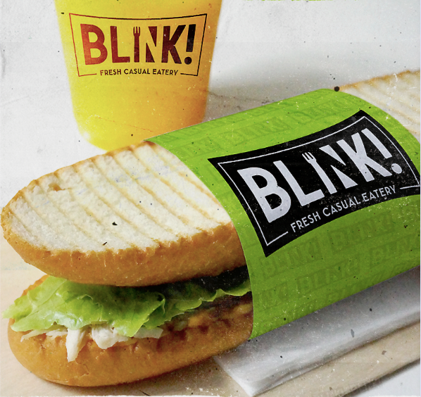 Food branding logo: Blink!