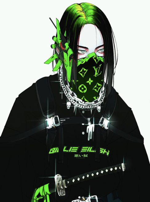 Cyberpunk Billie Eilish Illustration