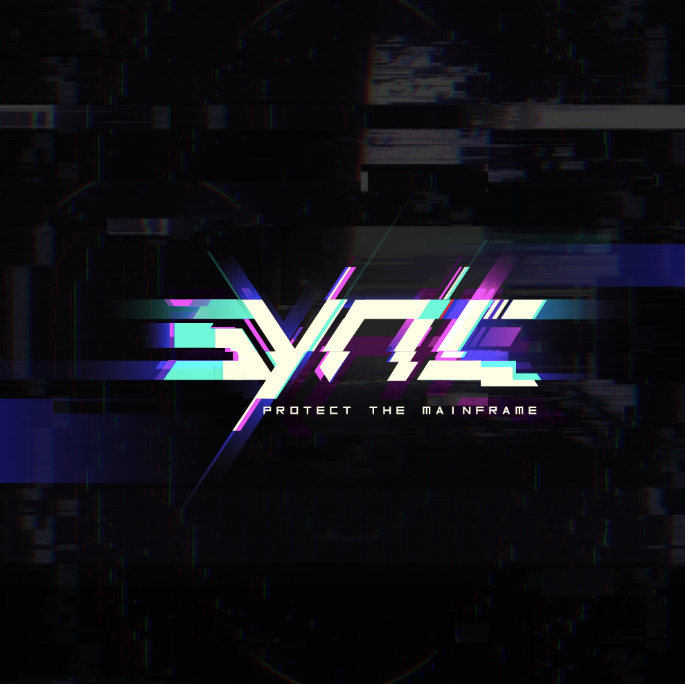 Glitch effect logo