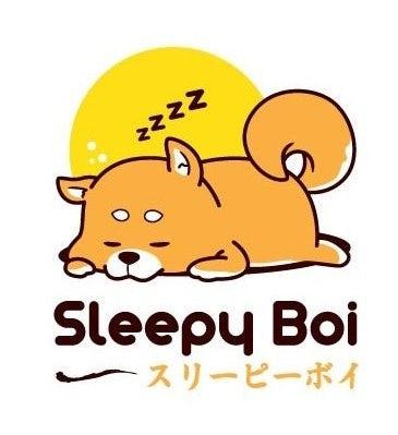 Illustration of a sleeping shiba inu