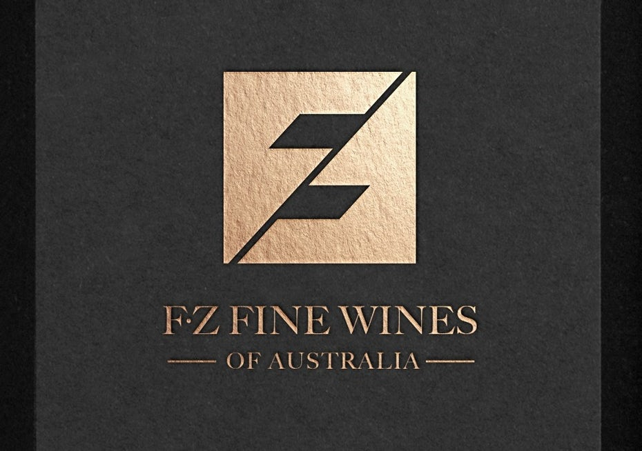 Food branding logo: FZ Wines