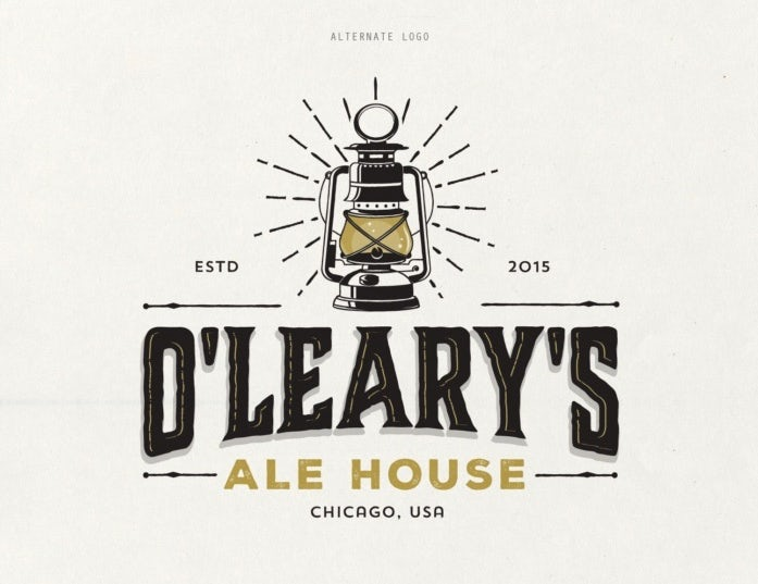 Food branding logo: O'Leary's Ale House