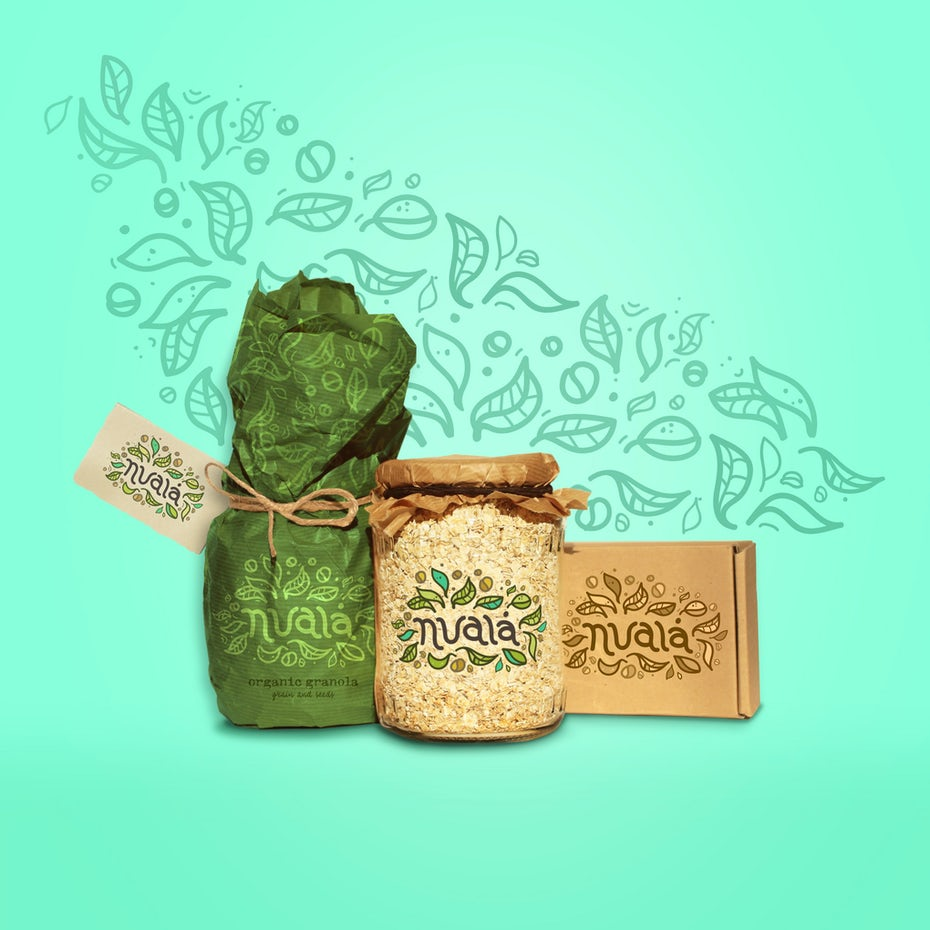 Granola food branding design