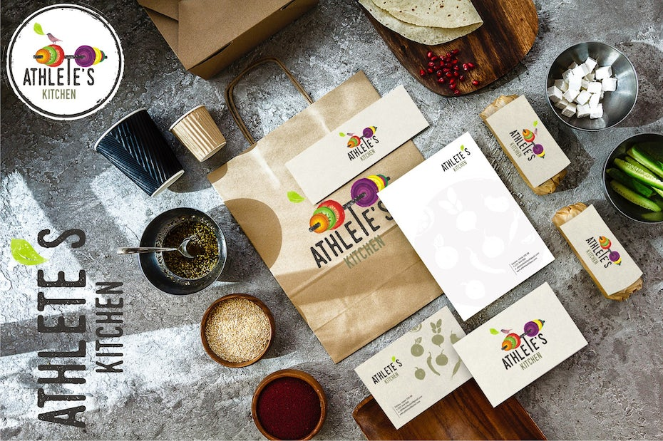 Fast casual logo and brand identity pack