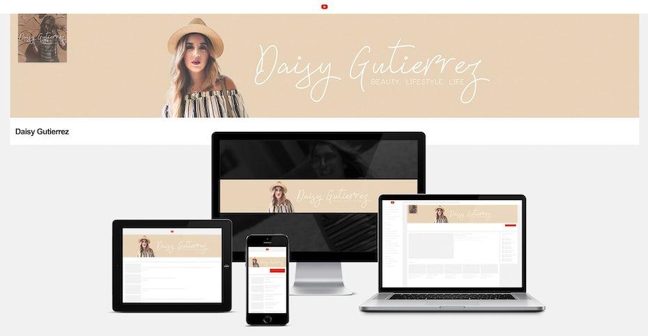 Designs de bannière YouTube et de réseaux sociaux élégants, minimalistes et neutres