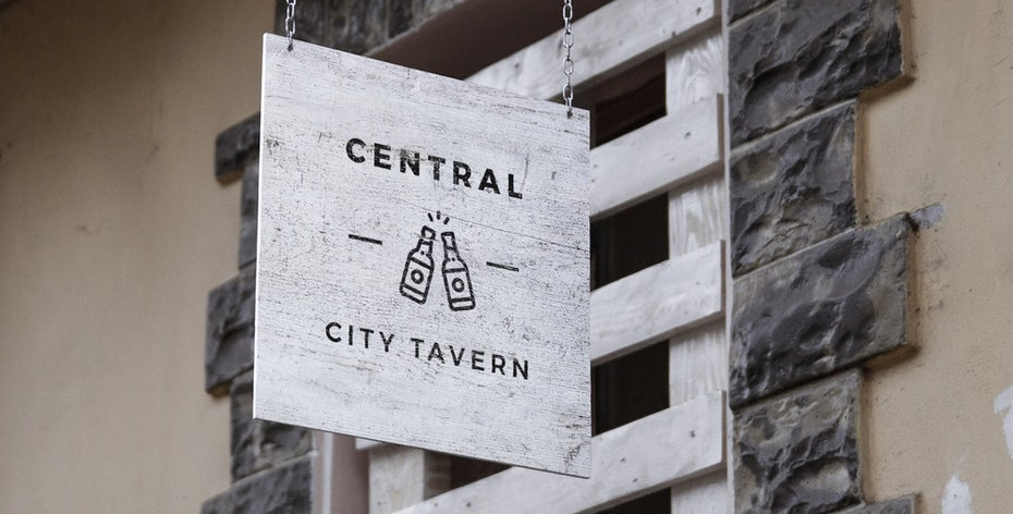 Signage for tavern